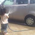 洗車(水遊び!?)