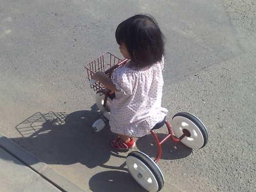 Yuaも三輪車